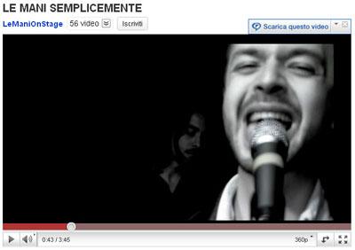 Le-mani_Semplicemente_video